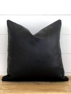 Cushion Cover - Ebony Vegan Leather