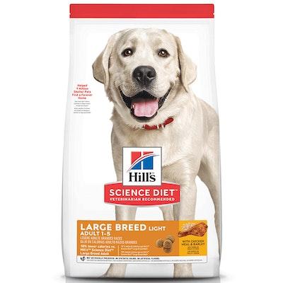 Hills Adult 1+ Light Large Breed Dry Dog Food Chicken Meal & Barley 12kg