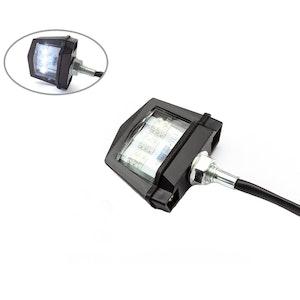 Bolt On LED License Plate Light - Black