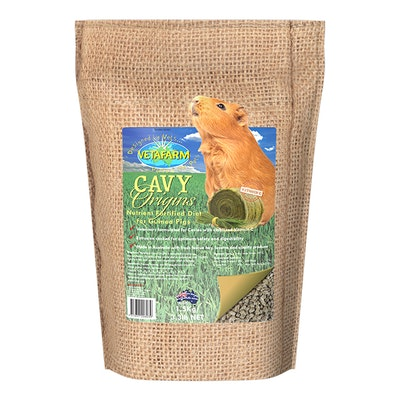 Vetafarm Origins Cavy Diet for Pet & Breeder Guinea Pig - 3 Sizes