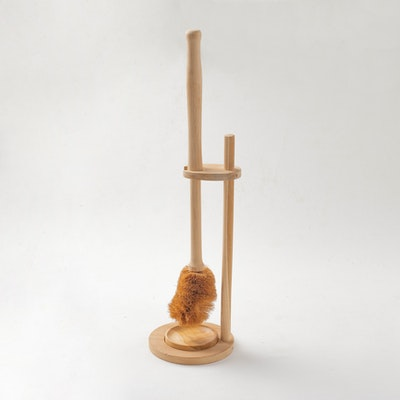 Kayu&Co. Wooden Toilet Brush with Stand & Bowl