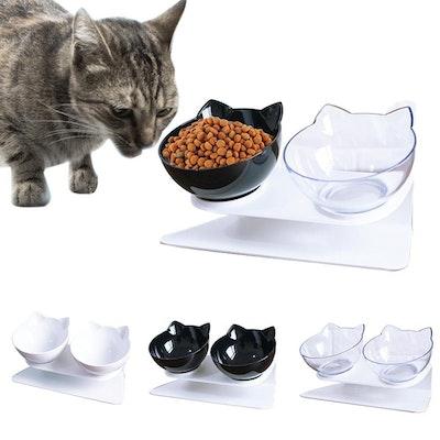 Whiska Chops Raised Cat Bowls