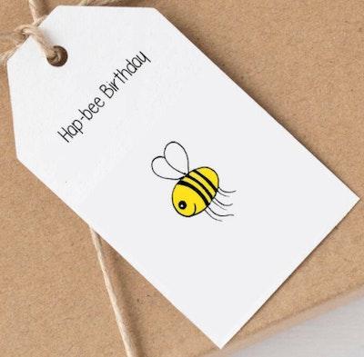 SOUL Self Care  Pleasant Tree Designer Gift Tags - HAP BEE BIRTHDAY 2021