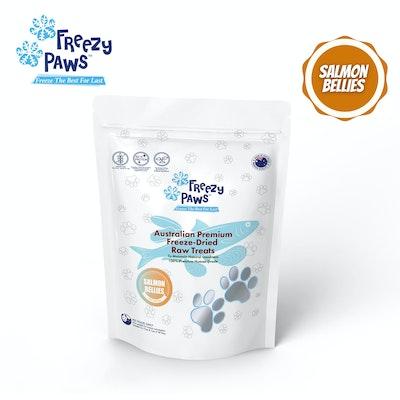 Freezy Paws Premium Human Grade Freeze Dried Salmon Bellies Raw Treats 100g
