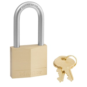 Master Lock 140DLF 40mm Wide Solid Brass Body Padlock with 38mm Shackle