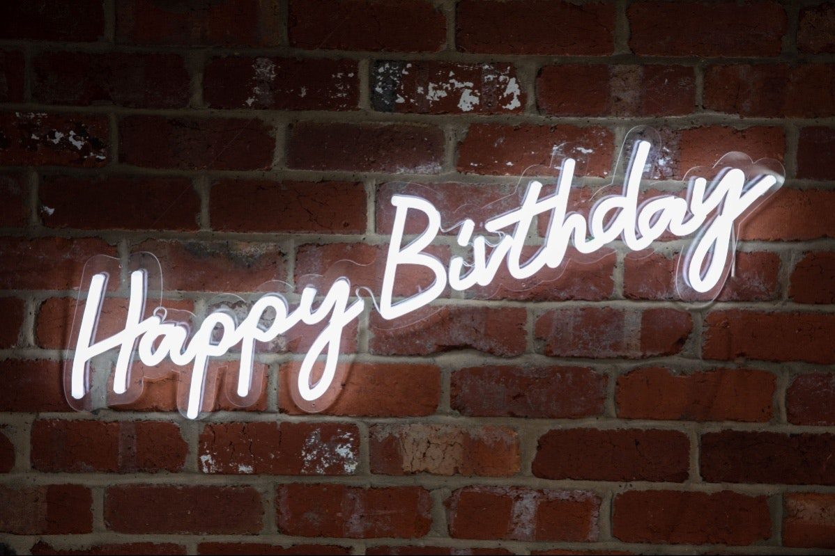Neon Collective Co Happy Birthday Neon Sign Hire For Sale In