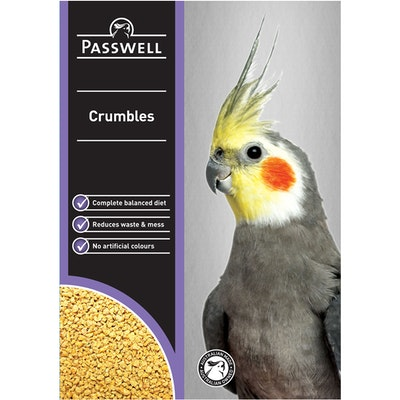 PASSWELL Small Breeding Birds Balanced Nutrition Crumbles - 4 Sizes