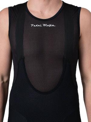 Pedal Mafia Mens Base layer - Black White Logo Sleeveless