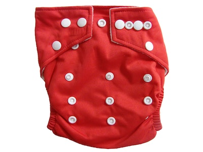 Hippybottomus Stay Dry Bamboo Cloth Nappy - Red