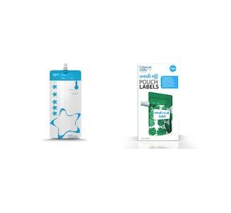 Re-usable Breast Milk Storage Bags 10 pack + FREE Breast Milk Bag Labels 54PK