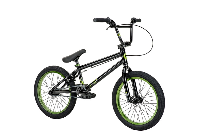 "Kink Kicker 18"" Black/Green 2015, Freestyle BMXs"