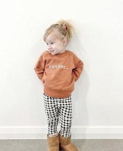 Personalised Name Jumper - Burnt Orange