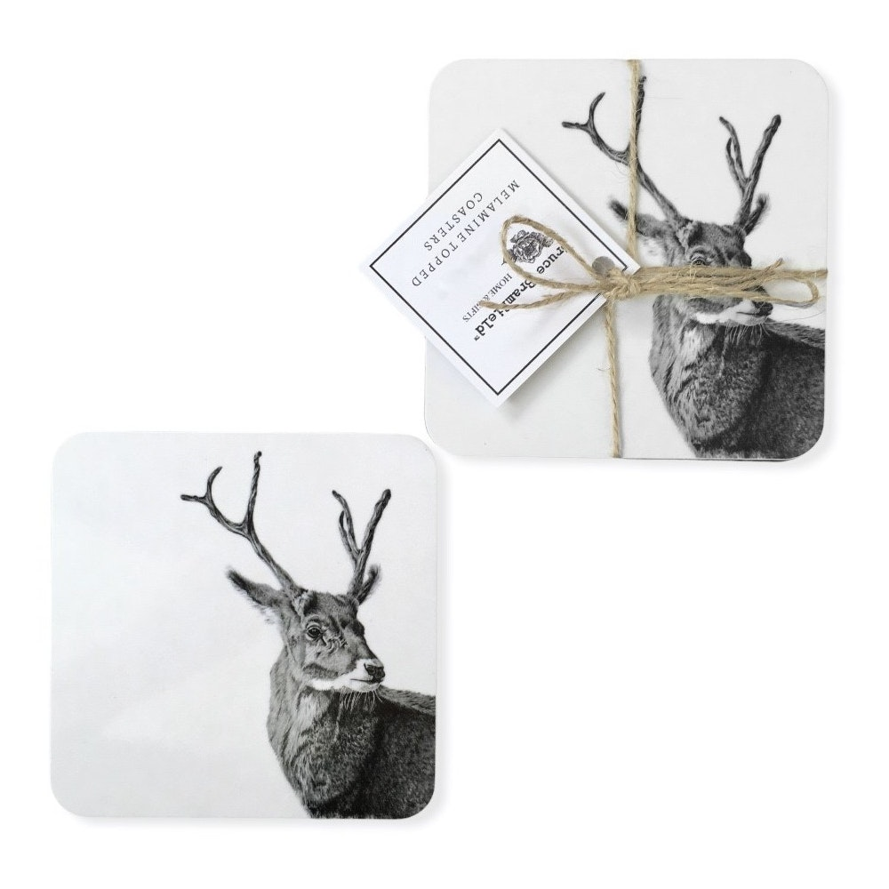 Bruce Bramfield Stag Set Of Two Coasters