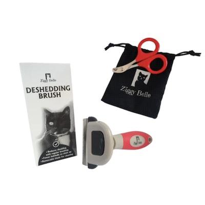 Ziggy Belle Cat Nail Scissors & Deshedding Brush Set