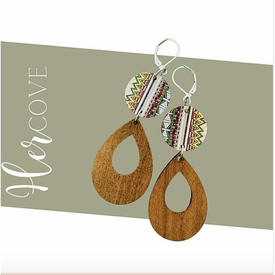 Hercove Printed Wooden Drops
