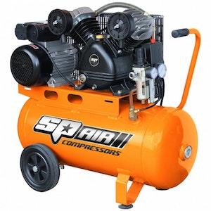 SP17 Air Compressor 3.0hp 50lt Belt Drive V-Twin Portable SP17