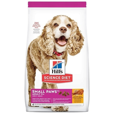 Hills Adult 11+ Small Breed Age Defying Dog Food Chicken Rice & Barley 2.04kg