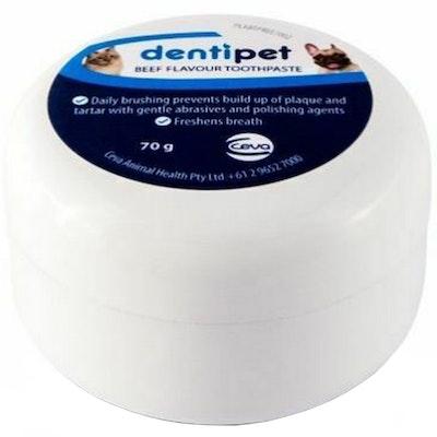 CEVA Dentipet Dog and Cat Dental Care Fresh Breath Toothpaste Beef 70g