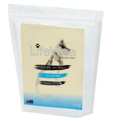 LifeWise Adult Small Dry Dog Food Ocean Fish w/ Lamb & Vegetables - 3 Sizes