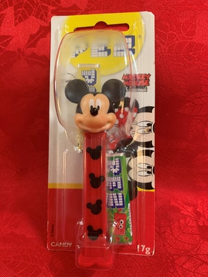 Mickey Mouse red stem with black silhouettes PEZ Dispenser Mint on Card from Mickey Mouse and Friends collection