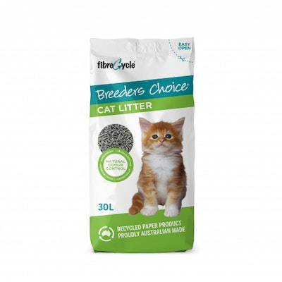 Breeders Choice Breeder's Choice Recycled Paper Cat Litter 30L