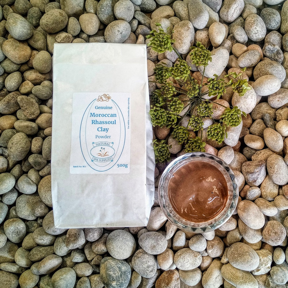 Natural Spa Supplies Rhassoul Detox Clay For Washing The Hair, Face And Body