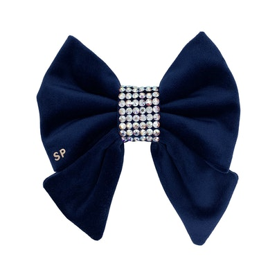 Swanky Paws Navy Blue Bling Sailor Bow