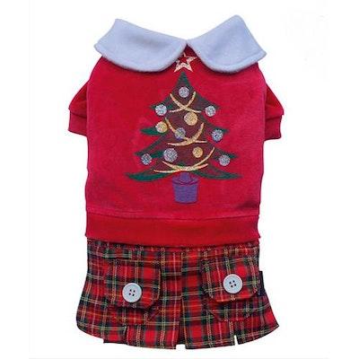 DoggyDolly SMALL DOG CHRISTMAS- Christmas Girl Doggy Dress