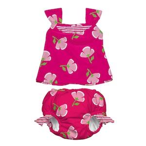 i play. Mod Ultimate Swim Diaper 2pc Tankini Set - Fuchsia Buttercup