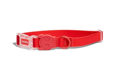 Zee Dog Neopro Adjustable Soft Dog Collar Coral Red - 4 Sizes