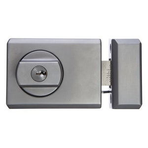 Whitco Deadlatch with timber frame strike in satin chrome plate finish