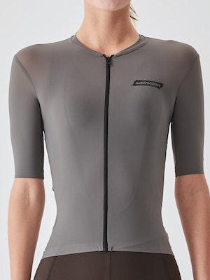 Soomom Women's Essential Cycling Jersey - Grey