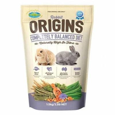Vetafarm Rabbit Origins Pellet Food for Rabbits  1.5kg