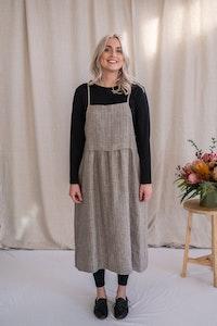 Harvest Dress - Rye Stripe