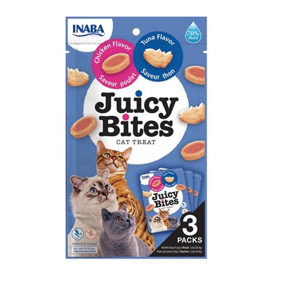 INABA Juicy Bites Cat Treat Tuna & Chicken Flavor 6 x 34g