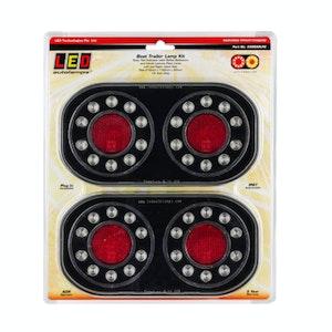 LED Trailer, Boat Trailer Stop Tail Indicator Light 12v Twin Pack