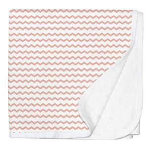 Silly Billyz Peach/Pink Jersey Stroller Blanket