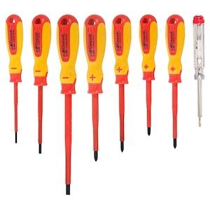 SD8SET Screwdriver Set 8 Piece 1000V Electricians Insulated Electrical SD8SET