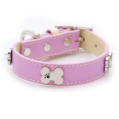 Hamish McBeth Pink Bones Bling Dog Collar