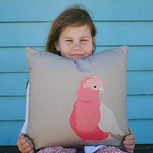 Galah Cushion Cover in Linen / Cotton