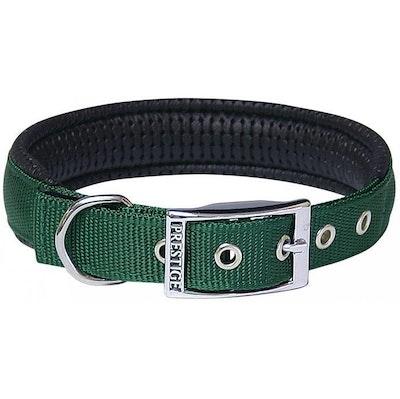 Prestige Pet Products Prestige Pet Soft Padded Adjustable Dog Collar Hunter Green 1 Inch - 5 Sizes