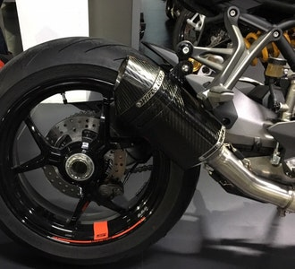 Shift-Tech Carbon Slip-On Exhaust To Suit Ducati Monster 1200 Models