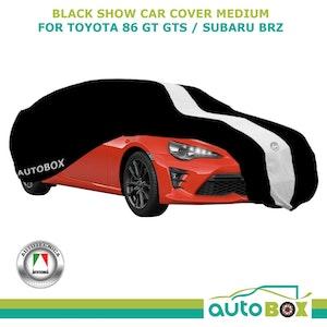 Black Medium Washable Show Car Cover fits Toyota 86 GT GTS / Subaru BRZ Softline
