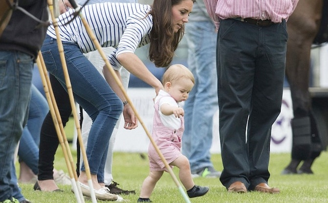 Prince George just took his first tiny royal steps