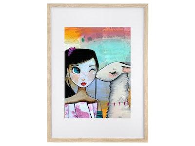 Llama's Kiss - Art Print