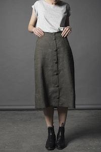 Lavender Linen Skirt - Olive