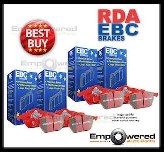 EBC REDSTUFF FULL SET FRONT & REAR BRAKE PADS for Subaru WRX GC* 9/1998-10/2000