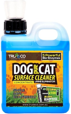 Trueeco 2.5 Litre Concentrate DOG AND CAT SURFACE CLEANER (CREATES 50 LITRES READY2USE)
