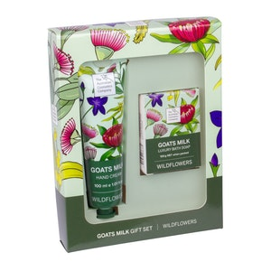 The Australian Cosmetics Company Goats Milk Wildflower Hand Cream & Body Soap