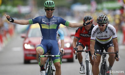 Bling takes first career Tour de France stage win